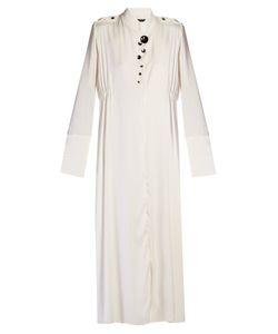 Ellery   Prophet Button-Embellished Georgette Dress