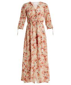 Athena Procopiou   Poppy In Love Button-Through Silk Dress
