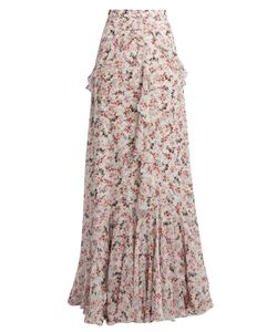 Erdem | Alison Print Silk-Voile Maxi Skirt