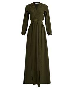 Rhode Resort   Jagger Wrap-Front Silk Maxi Dress