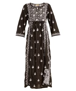 Muzungu Sisters | -Embroidered Silk Dress