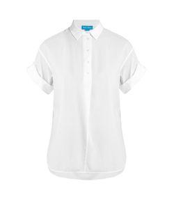 M.i.h Jeans   Roll-Sleeve Seersucker-Cotton Shirt