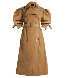 Simone Rocha | Short-Sleeved Gabardine Trench Coat