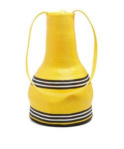 Rosie Assoulin | Striped Woven-Straw Jug Shoulder Bag