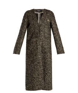Rochas | V-Neck Wool-Blend Bouclé Coat