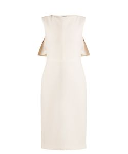 Osman | Cassidy Cape-Back Wool-Crepe Dress