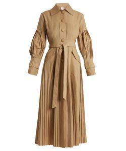 Huishan Zhang | Anise Pleated Cotton-Gabardine Trench Coat