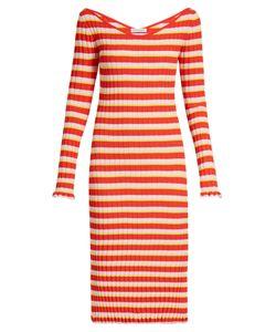 Altuzarra   Soccorro Striped Ribbed-Knit Dress