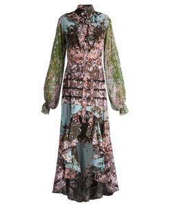 Natasha Zinko   Sakura-Print Silk Crepe De Chine Dress