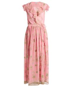 Ashish | Embroide Silk-Georgette Wrap Dress
