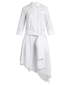 Osman | Layla Asymmetric-Hem Striped Cotton Dress