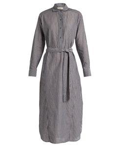Vince | Striped Cotton-Voile Midi Dress