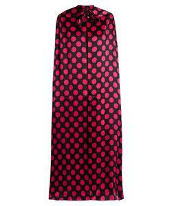 Duro Olowu | Large Polka-Dot Print Silk-Satin Cape