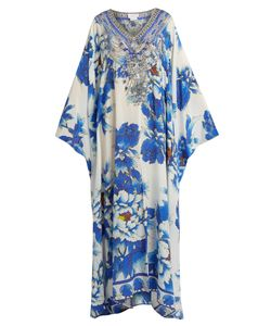 Camilla | Ring Of Roses-Print Silk Kaftan