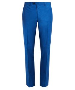 Etro | Slim-Leg Cotton-Blend Trousers