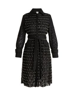Huishan Zhang | Sylvia Faux-Pearl Embellished Lace Trench Coat