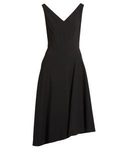 Osman | Elizabeth Asymmetric-Hem Crepe Dress