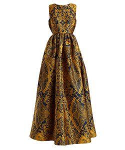 Mary Katrantzou   Shaw Sleeveless Cards-Jacquard Gown