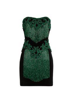 Balmain | Bead-Embellished Strapless Velvet Dress