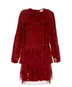 Lanvin | Long-Sleeved Tiered Sequin Dress
