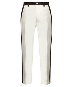 Dolce & Gabbana | Side-Stripe Stretch-Cotton Cropped Trousers