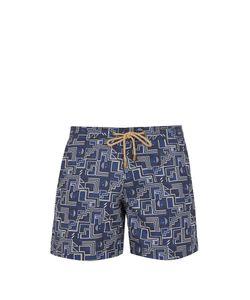 THORSUN   Titan-Fit Puzzle-Print Swim Shorts