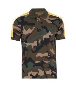Valentino | Camouflage-Print Cotton Polo Shirt