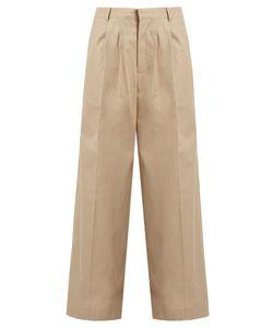 RAEY | Wide-Leg Cotton Chino Trousers