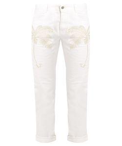 Stella McCartney | Palm Tree-Embroidered Slim-Leg Cropped Jeans