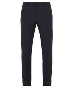Valentino | Slim-Leg Turn-Up Wool-Blend Trousers