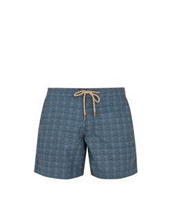 THORSUN   Titan-Fit Triangle-Print Swim Shorts