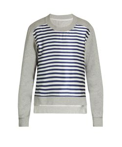 Burberry | Striped-Satin And Jersey Sweatshirt