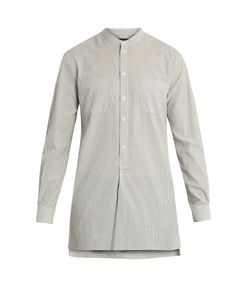 HELBERS | Grandad-Collar Striped Tunic