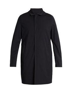 Wooyoungmi | Point-Collar Wool-Blend Seersucker Coat