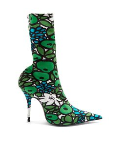 Balenciaga | Knife Print Jersey Sock Boots