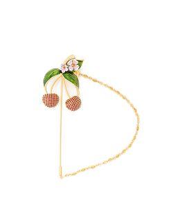 Dolce & Gabbana | Cherry Crystal-Embellished Brooch