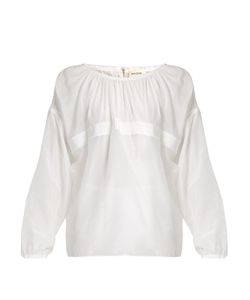Maison Rabih Kayrouz | Grosgrain-Trimmed Cotton And Silk-Blend Voile Top