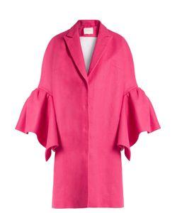 Delpozo | Fluted-Sleeved Linen Coat