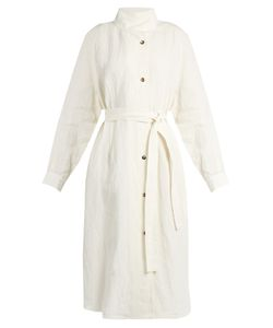 J.W.Anderson | Stand-Collar Linen Trench Coat