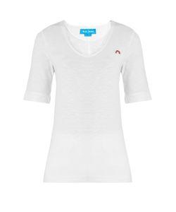 M.i.h Jeans   Portobello Scoop-Neck Cotton T-Shirt