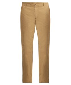 DE BONNE FACTURE | Pleated Cotton Chino Trousers