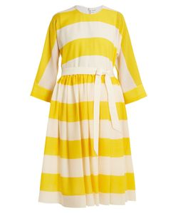 Maison Rabih Kayrouz | Etamine Dropped-Waist Striped Wool Dress