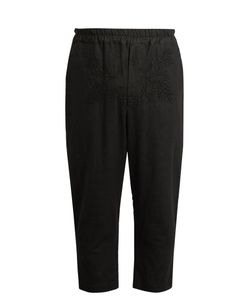 By Walid | Morton Cropped Antique-Linen Trousers