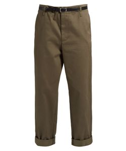 Golden Goose Deluxe Brand | Cotton-Twill Cropped Chino Trousers