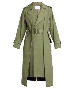 Toga | Pleat-Front Belted Trench Coat