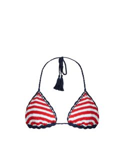 Anna Kosturova | Sailor Sliding Striped Bikini Top