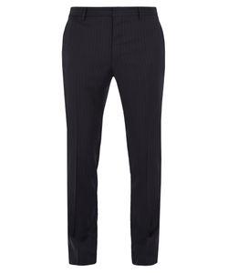 Valentino | Striped Wool Slim-Leg Trousers
