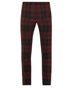Valentino | Checked Slim-Leg Wool Trousers