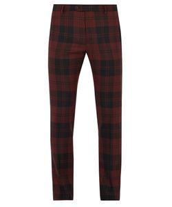 Valentino | Checked Slim-Leg Wool Trousers