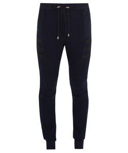 Balmain | Ribbed-Panel Cotton Track Pants